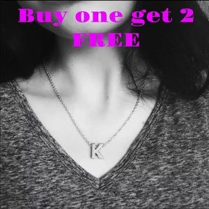 Jewelry - DIY Letter K Gold Plated Necklace neck1k